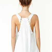 Lace It Tank - Ivory
