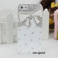 3D Bow Candy Lady Bling Rhinestone Crystal Hard Skin Case Cover For Iphone 5