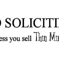 No Soliciting Unless You Sell Thin Mints - Mustache Wall Cling -Vinyl  - Door Sticker