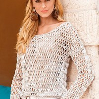 Open-weave sweater - Boston Proper