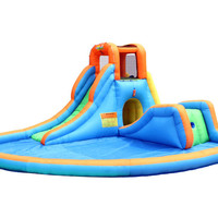 Bounceland Inflatable Cascade Water Slides with large pool