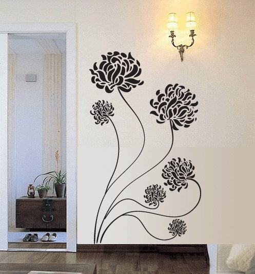 BIG Chrysanthemum Flower Vinyl Wall Decal by 7decals on Etsy