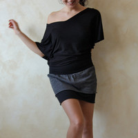 Jersey layered mini skirt   custom made women skirt by LoreTree