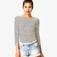 Scoop Back Striped Top