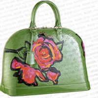 Louis Vuitton Alma MM Roses Vert Tonic M93688 Green 0