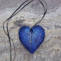 Blue Love Leaf by Medusa13 on Etsy