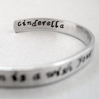 Disney Cinderella Bracelet  A Dream Is a Wish Your by emerydrive