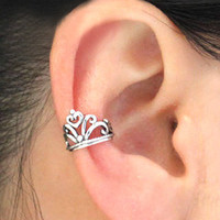 vintage crown silver ear clip