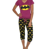 Batman Capri Sleep Set | Shop Just Arrived at Wet Seal