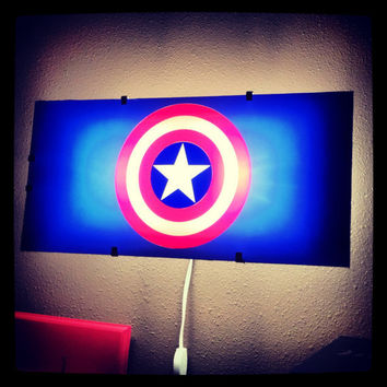Captain america wall light