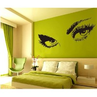 Large Audrey Hepburn&#x27;s Eyes Vinyl Wall Decal Girl&#x27;s Bedroom /Living room Art Decor Birthday Gift Hotel Ornament - 45&quot; Black