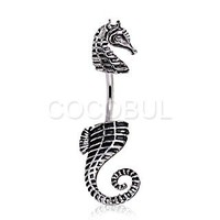 316L Surgical Steel In-N-Out Sea Horse Belly Rings