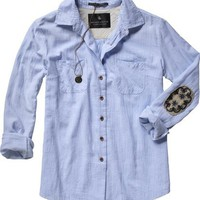 Scotch  Soda: BOYFRIEND FIT SHIRT W/ ELBOW P