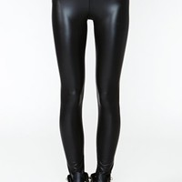 Nasty Gal City Slick Leggings - Black