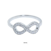 Your Choice - Eternity, Love, or Cross Sterling Silver Ring