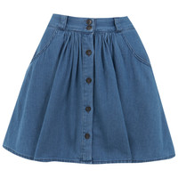 Petites Chambray Skirt - Jeans & Denim - Clothing - Miss Selfridge
