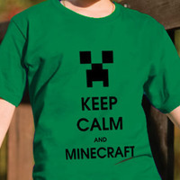 Keep calm and Minecraft Tee Shirt by DesignNoy on Etsy