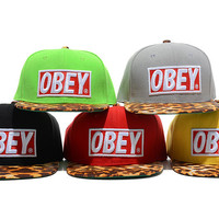 TuT TuT Fashion — OBEY leopard print snap back