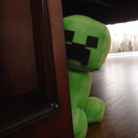 Minecraft Mini/Baby Creeper 9in by CosmicPlushies on Etsy