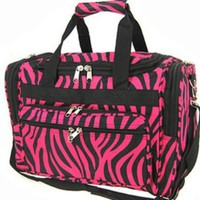 "Amazon.com: Zebra Hot Pink Black Trim Duffel Gym Cheer Dance Bag 22"": Clothing"
