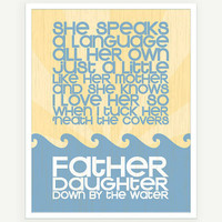 Father Daughter Quote Art Print Baby Gift Nursery by colorbee