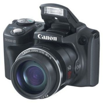Canon PowerShot SX-500 16MP Digital Camera with 30x Optical Zoom - Black