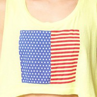 Wildfox American Flag Cropped Tank Top at asos.com