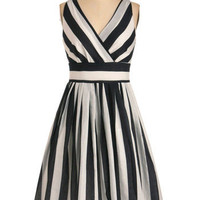 Glamour Power to You Dress in Stripes | Mod Retro Vintage Dresses | ModCloth.com