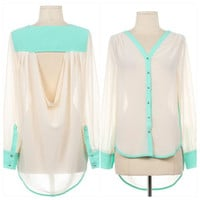 Pink Amore  Dulce Amore Edging Blouse