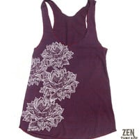 Womens LOTUS Blossoms american apparel TriBlend by ZenThreads