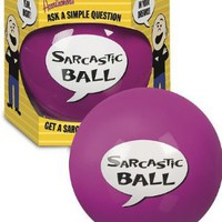 Amazon.com: Accoutrements Sarcastic Ball: Toys & Games