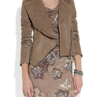 Vivienne Westwood Anglomania|Chevalier asymmetric leather jacket|NET-A-PORTER.COM