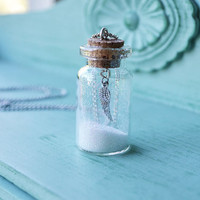 Angel Dust - Glass Bottle Necklace