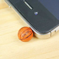 30% OFF Cute NBA Mini Basketball Anti Dust Plug 3.5mm Phone Dust Stopper Earphone Cap Dustproof Plug Charms for iPhone 4 4S 5 HTC, Samsung