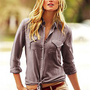 Cotton Silk Button-down Shirt - Victoria&#x27;s Secret