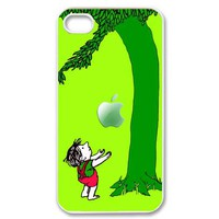 love story little Boy and the giving tree with an apple iphone 4 4s case > ALWAYS READY STOCK
