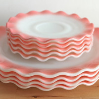 Hazel Atlas Pink Crinoline Dishes Vintage by KitchenCulinaria