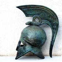 Greek Corinthian Helmet with Serpent Crest by GreekMythos on Etsy
