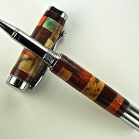 Handcrafted Wooden Pen Rollerball Pen of many colors Chrome Hardware 402R