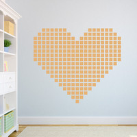 "Square Heart Wall Decal 28"" x 28"""