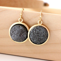 Black color earrings by anthology27 on Etsy