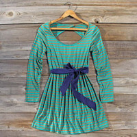 Foxtail Stripe Dress, Sweet Women's Bohemian Clothing