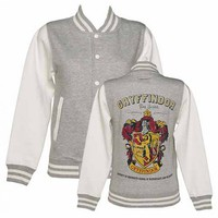 Ladies Grey Harry Potter Gryffindor Team Quidditch Varsity Jacket : TruffleShuffle.com
