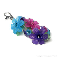 Colorful Summer Garden Floral Crystal Pearl by whimsydaisydesigns