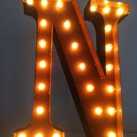 Vintage Marquee Lights Letter N by VintageMarqueeLights on Etsy