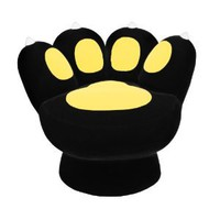 LumiSource Paw Chair, Black/Yellow