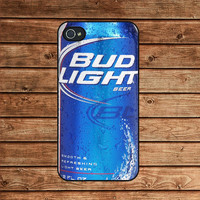 Bud Light beer--iphone 4 case,iphone 4s case ,in plastic or silicone case