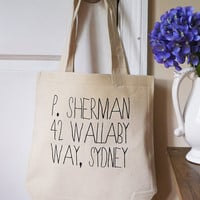 P. Sherman, Finding Nemo tote, disney pixar tote bag, Finding nemo, P. Sherman