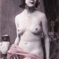 Sadie Vintage Nude Reproduction Photo Print  MATURE