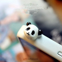 Markdown Sale - 1Pc Cute Resin Panda Anti Dust Plug - 3.5mm Smart Phone Dust Stopper Earphone Cap Dustproof Plug Charms